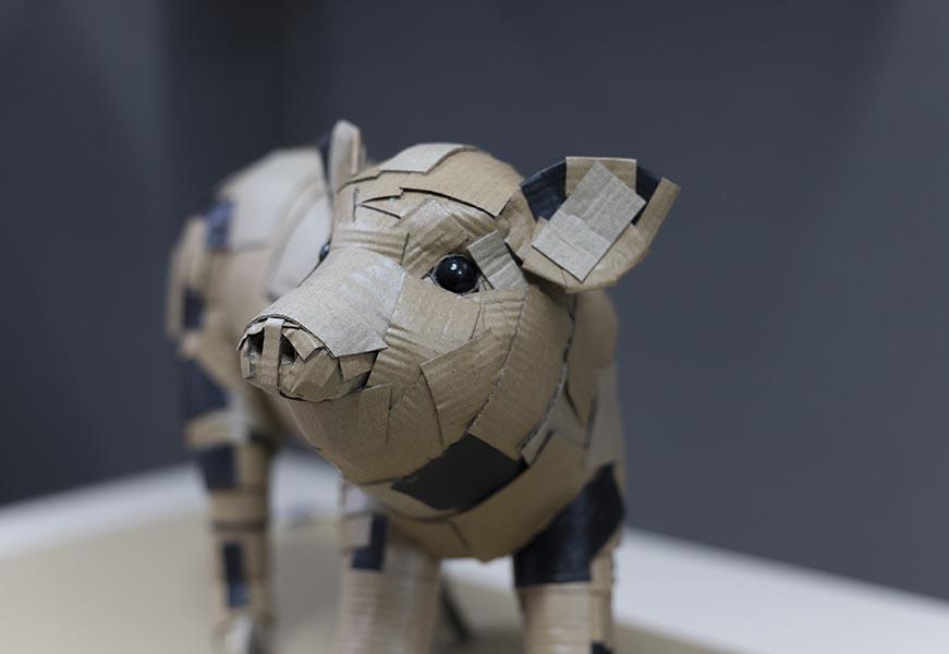 curso cardboard sculpture