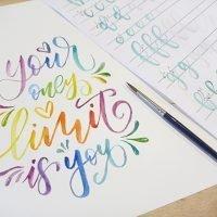 taller de lettering con acuarela