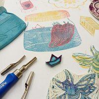 taller carvado de sellos